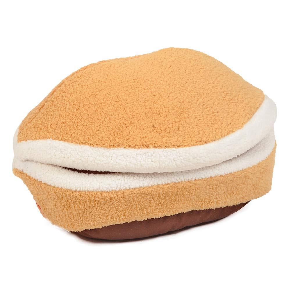GODGETS Luxury Hamburger Tela acogedora Gato Cama Grande Perro caseta con cojín Ovalado ,Sin Cremallera,52×40×30 CM,M: Amazon.es: Productos para mascotas