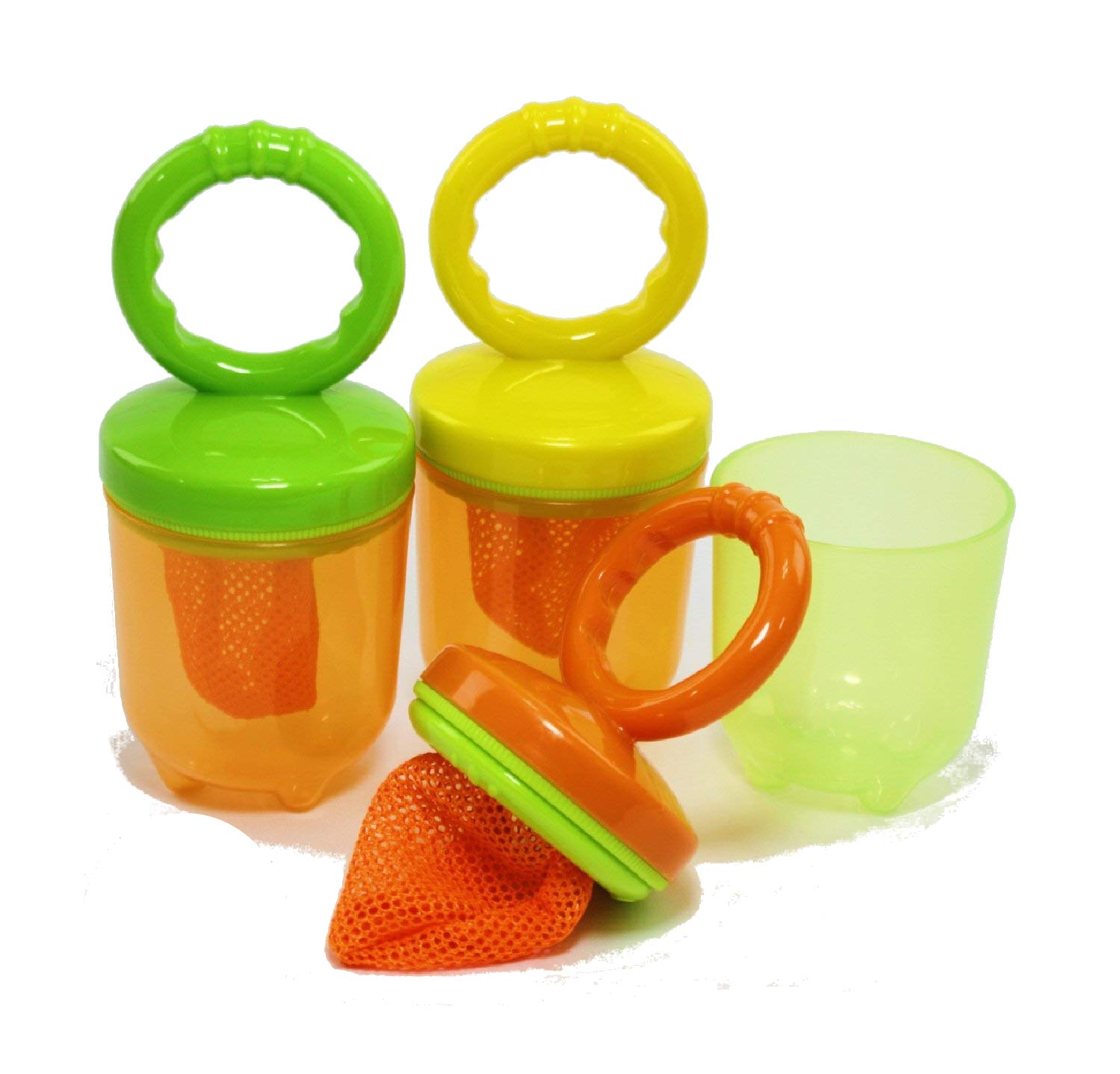 Five-A-Day Fresh Baby Food Feeders with Easy Grip Handles Gift Set - 3 Pack