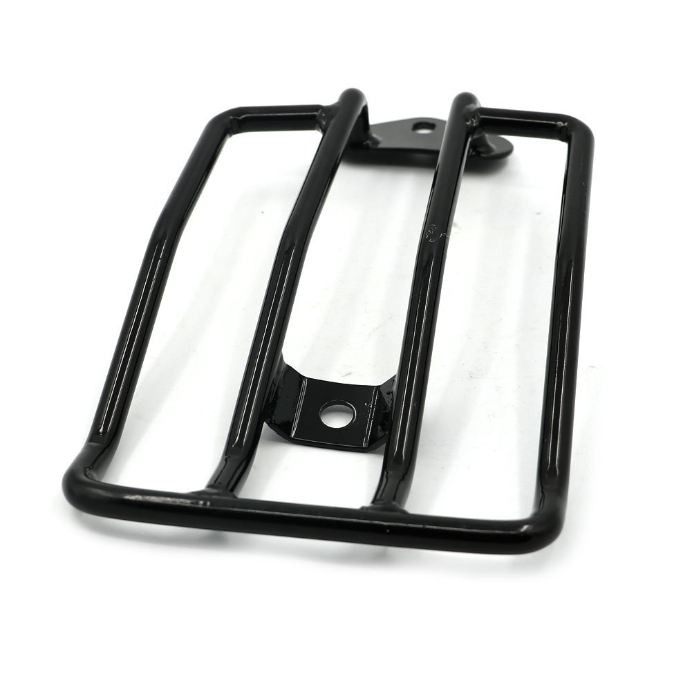 Black Detachable Luggage Rack For Stock Rear Solo Seat Harley Custom Sportster XL 883 1200