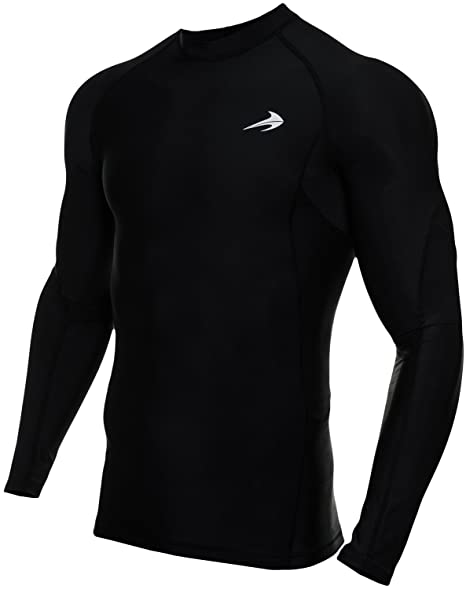 d0702efadc CompressionZ Men's Long Sleeve Compression Shirt - Performance Base Layer  for Fitness, Basketball, Gym. Roll over image to zoom in