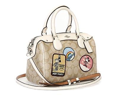 385876bd460 COACH DISNEY X MINNIE MOUSE MINI BENNETT SATCHEL, PATCHES: Amazon.co.uk:  Shoes & Bags