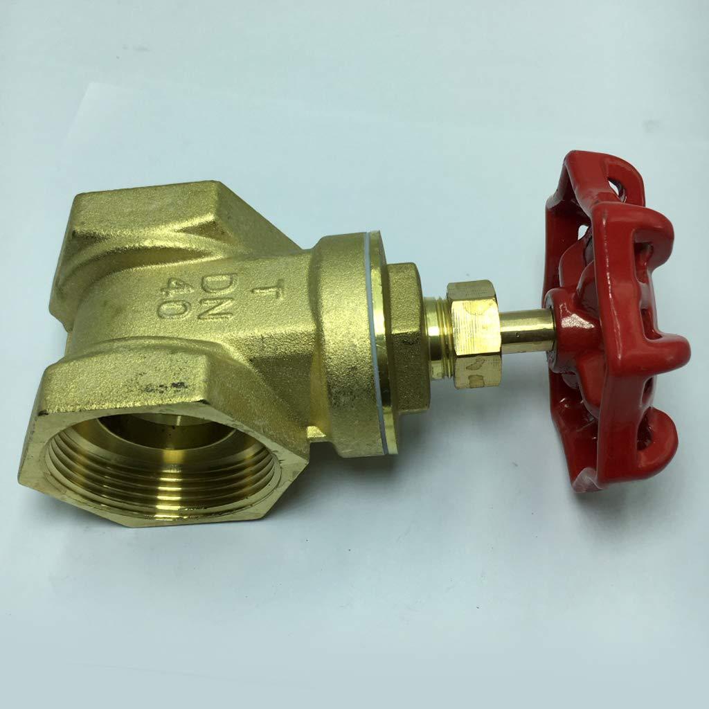 Milageto JR9551 Brass Gate Valve Internal Thread X Internal Thread,