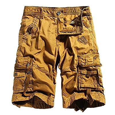 Men's Cotton Loose Fit Multi Pocket Cargo Shorts