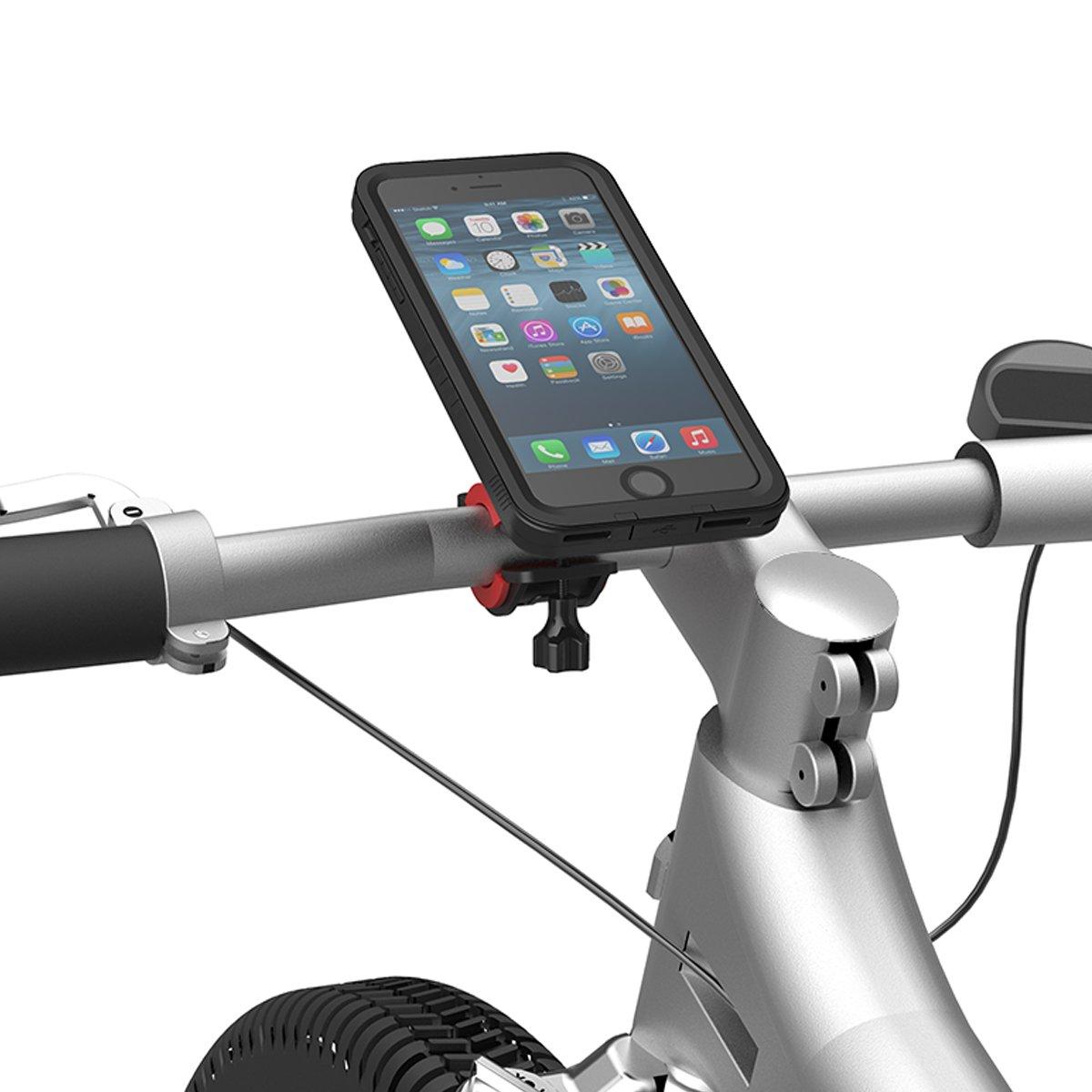 huge selection of f0b72 6e607 Bike Mount iPhone 7 Plus Waterproof Case, Yuqoka Shock-Resistant Bicycle  Holder Cradle for iPhone 7 Plus 5.5 Inch - Black