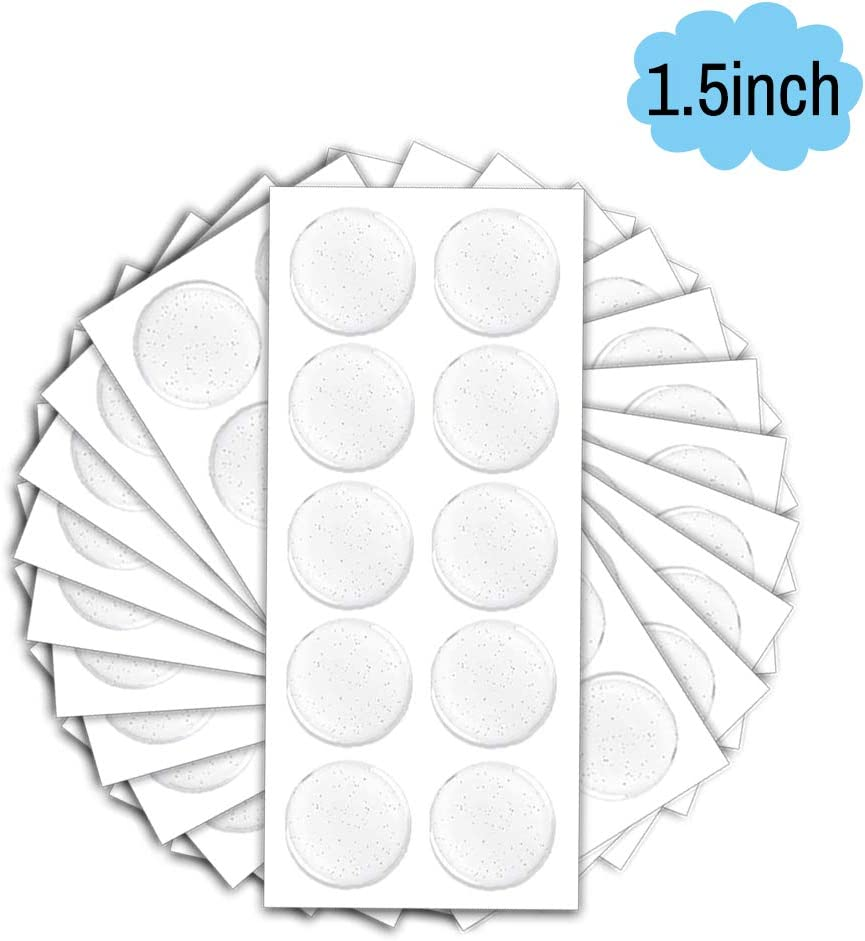 Resin Dots Seals FREE SHIPPING Round Clear Epoxy Stickers 50.8mm 2 inch -