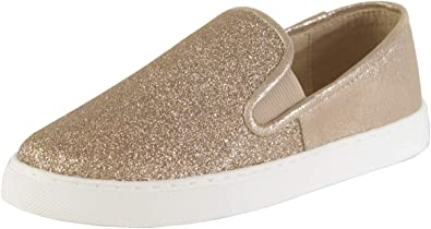 Bestina Tiny Glitter Slip On Sneaker: Shoes