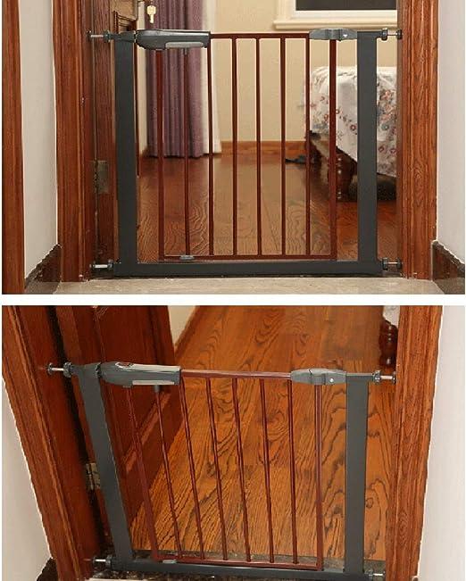 Bebé Puerta de Escalera Reja de Seguridad Valla for Mascotas Balcón De Escalera Barandilla Protectora Cierre Automático Instalación A Presión, 9 Tamaños (Color : Black, Size : Width 135-144cm): Amazon.es: Hogar