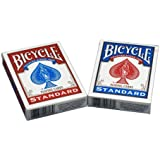 Bicycle Poker Size Standard Index Playing Cards, 4 Deck Player's Pack