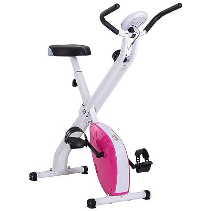 Outsunny Bicicleta Estática de 8 Niveles con Pantalla Digital para Fitness y Spinning - Carga máxima 110kg - 41x66x104cm