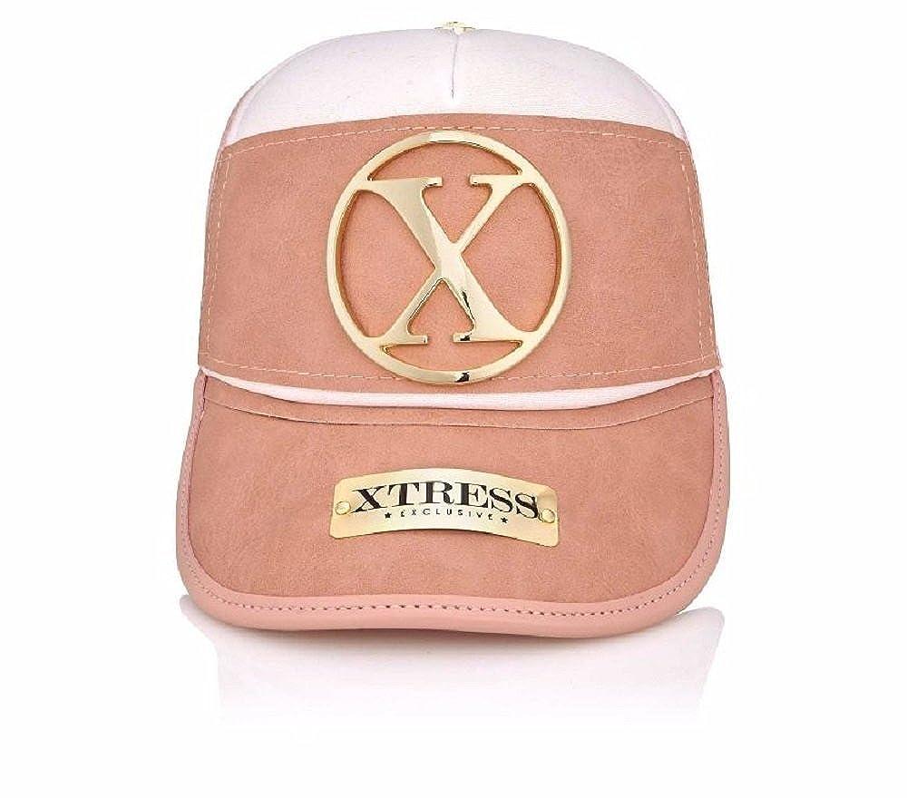 Xtress Exclusive Gorra de diseño rosa y blanca para hombre y mujer.: Amazon.es: Ropa y accesorios