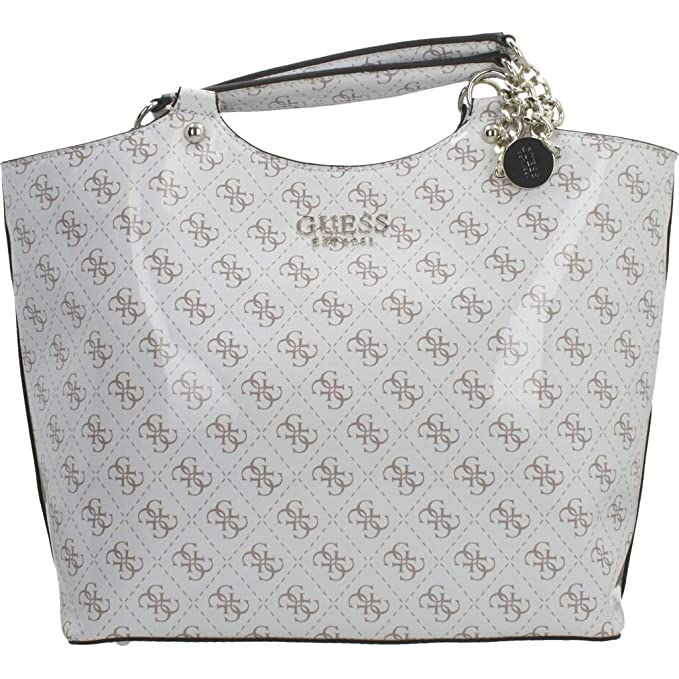 Guess LORENNA Society Carryall, Handbag Donna, Bianco, UNI