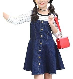 02f21e90d27d2 YY-Natuhi 子供服 女の子 デニムワンピース ニットセーター 二点セット サロペット スカート 長袖