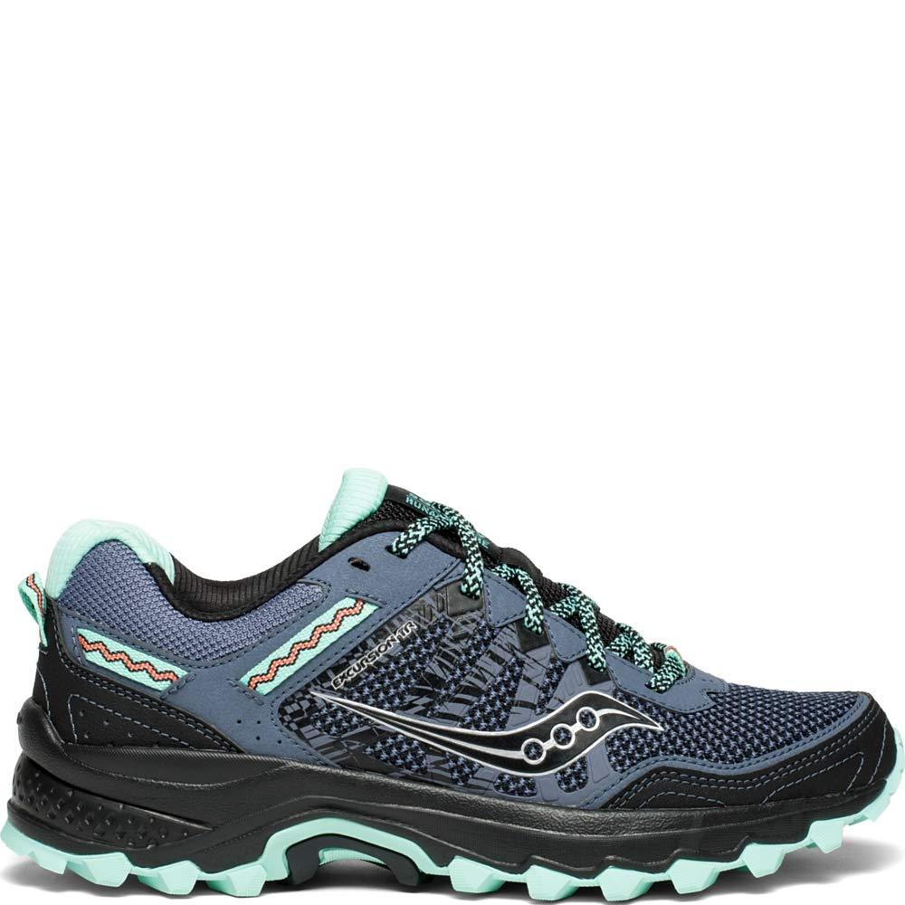 Saucony Women's Excursion TR12 Sneaker, Aqua/Black, 5.5 M US
