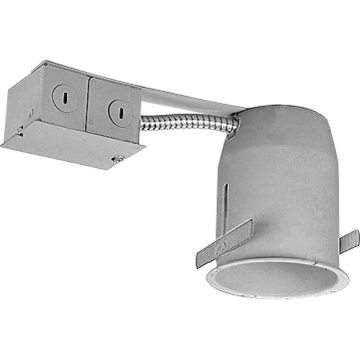 Progress Lighting P832-TG Remodel Recessed Lighting Housing for Use in Existing Ceilings Integral Flange on Housing and Exclusive Locking Bars