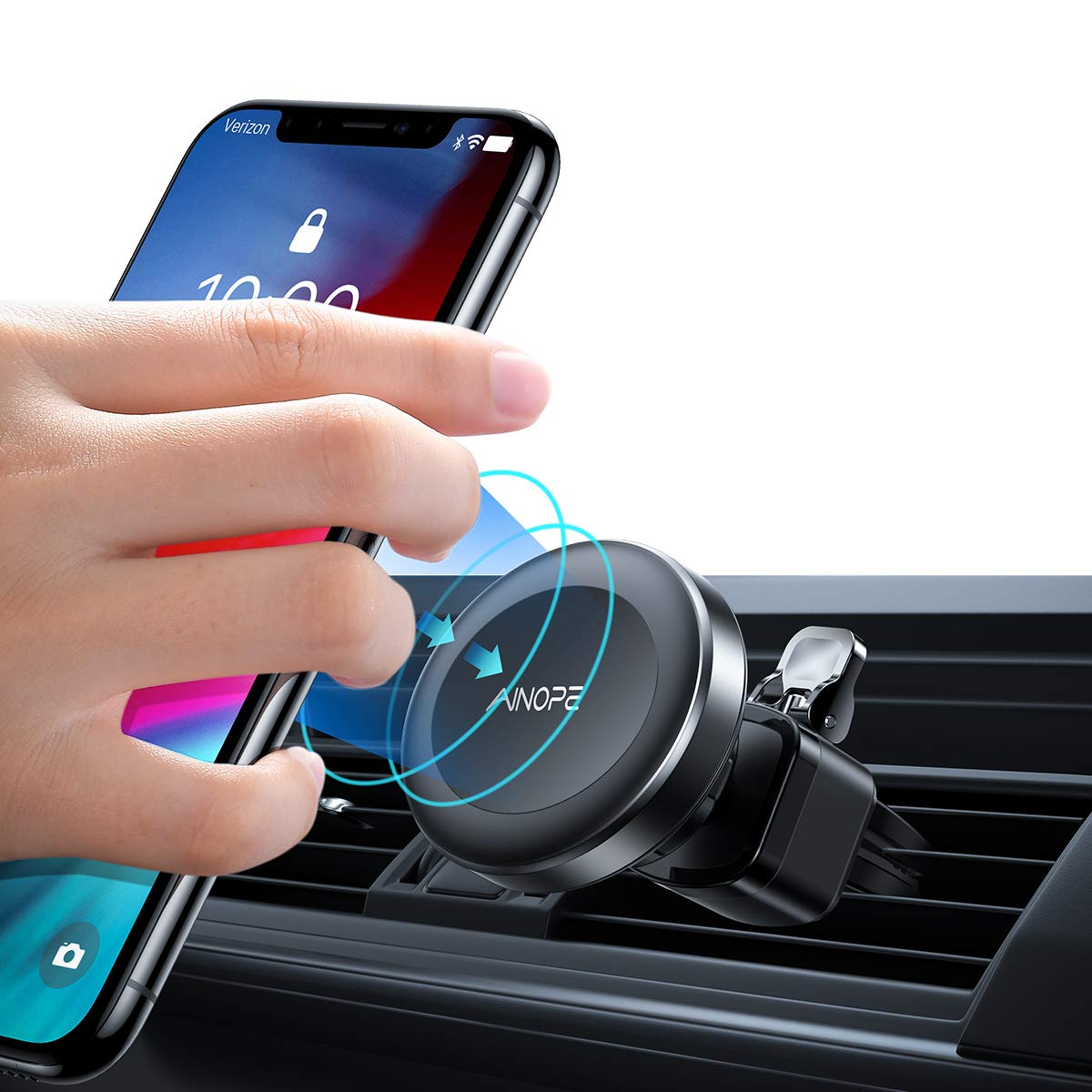 Phone Holder for Car, Upgrade 6 Strong Magnetic Car Phone Mount 360° Rotation Phone Magnet Car Mount Air Vent Phone Holder Compatible iPhone Xs MAX/XR/X/8/7, Galaxy Note 9/S10/S8/S7, iPad Air 2/Mini 3