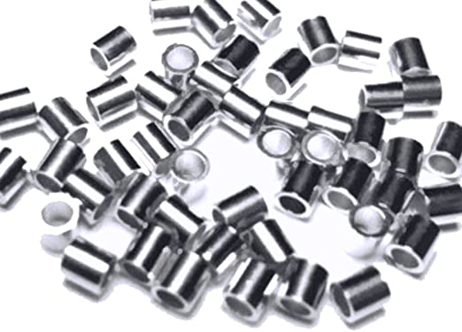 Package Of 100 Tube Metal Beads With Hole On SIDE Small Metal Weights With Hole