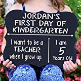 Personalized First Day Of School Chalk Board Sign