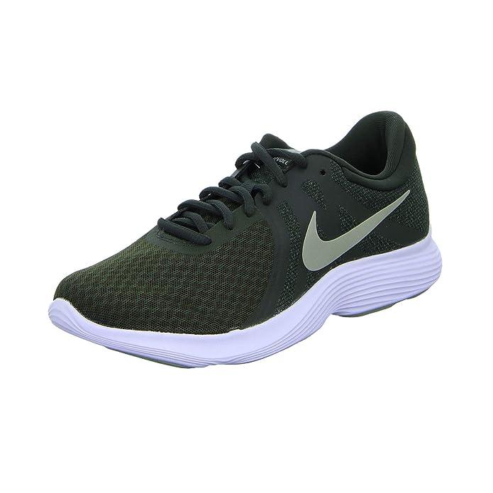 Nike Revolution 4 Herren grün mit grünemweißem Streifen (Sequoia/Spruce Fog/Mineral Spruce/White)