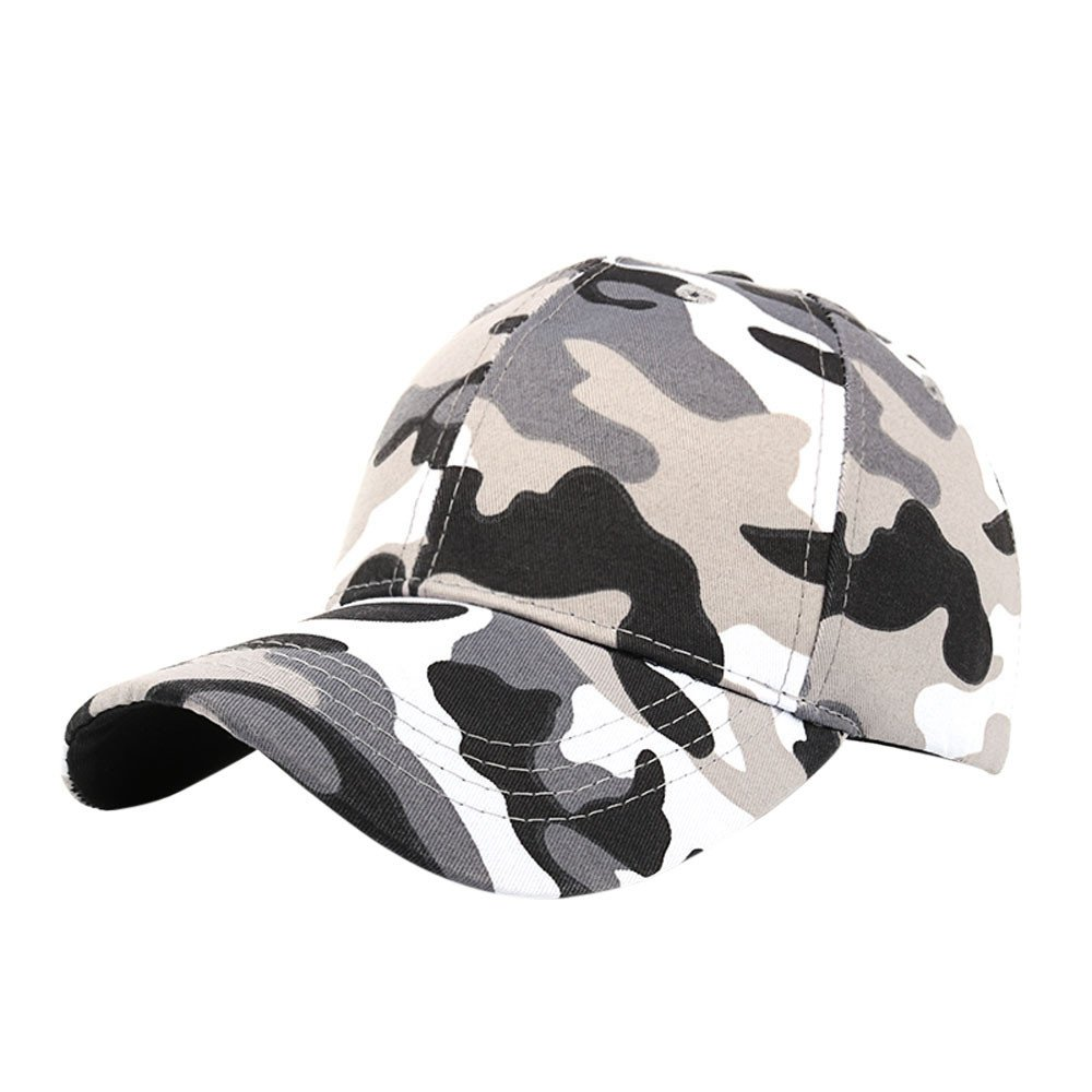 Rcool Unisex Casual Tactical Outdoor Camouflage Sports Cap Baseball Cap Hat Boy Girl Curved Snapback Flat Hat Sun Cap