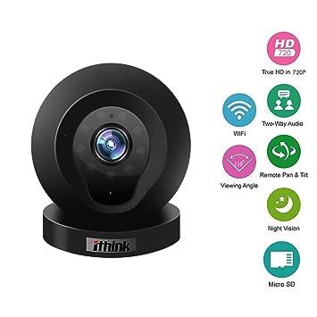 Ithink Q1 720P 110 grados lentes de cámara de vigilancia cámaras de red inteligente Wifi monitorización