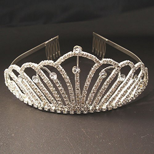 [Crazy K&A Adult Ceremony Rhinestone Tiara Crystal Crown Headband n Headband] (Beauty Pageant Queen Costume)