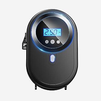 YLG Lujo Compresor De Aire Portátil, Automático con Pantalla Digital, Inflador, Luz LED, 12V,para Neumáticos, Objetos Inflables,Negro: Amazon.es: Deportes y ...