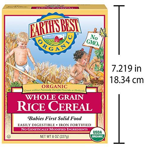 61GkgGXZ4QL - Earth's Best Organic Whole Grain Rice Cereal, 8 Ounce