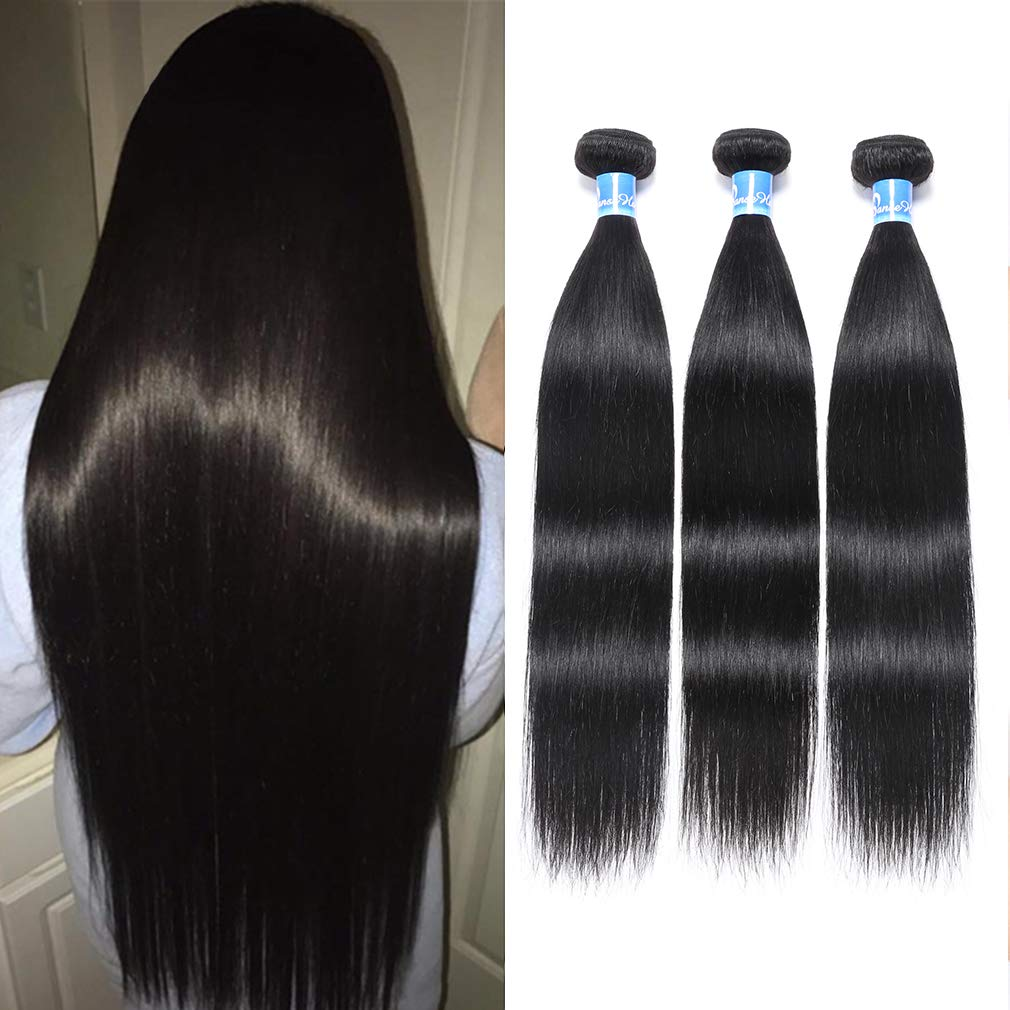 10A Peruvian Straight Hair 3 Bundles Virgin Human Hair 100% Unprocessed Peruvian Straight Virgin Hair Bundles 100g Per Bundle Double Weft Can Be Dyed and Bleached 18'' 20''22'' inches by Panse Hair
