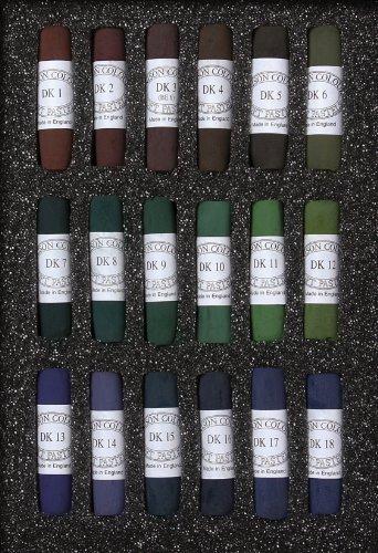 Jack Richeson Unison Pastel Dark Colors, Shades 1-18, Set of 18