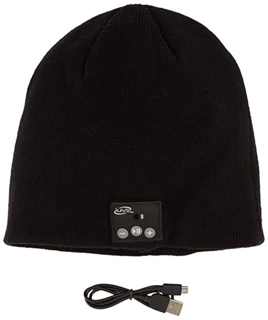 931fc52743b Amazon.com  iLive Bluetooth Wireless Knit Stocking Beanie with Microphone  (iAKB45B)  Cell Phones   Accessories