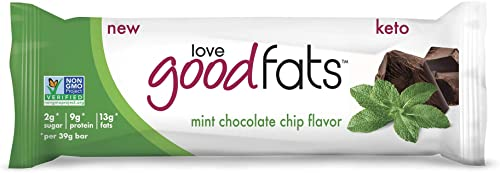 Love Good Fats, Snack Bars Mint Chocolate Chip, 1.38 Ounce, 12 Pack