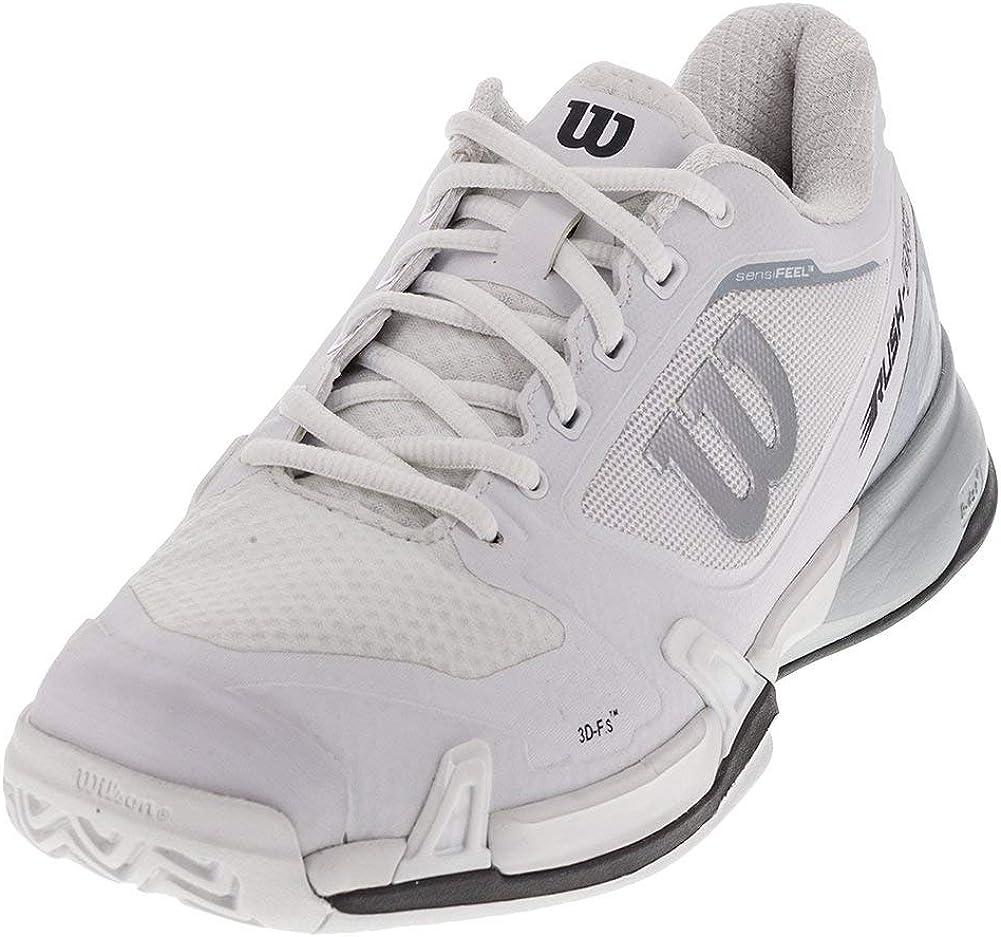 Wilson Men s Rush Pro 2.5 Tennis Shoe, White Pearl Blue Iron Gate