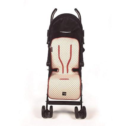 Walking Mum - Colchoneta de verano beige/rojo siena para ...