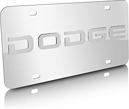 Dodge  License Plate Silver//Black NEW!!