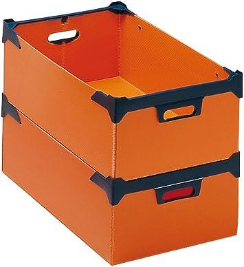 Caja de almacenaje (Akylux 28 DM3 naranja: Amazon.es: Bricolaje y herramientas