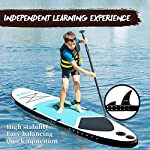 DAMA-Inflatable-Stand-up-Paddle-Boards-10-SUP-Paddle-BoardKids-Board-SUP-Paddle-Board-Drop-Stitch-And-PVC-FinCarry-BagPaddleHand-PumpLeashall-Round-BoardBlue