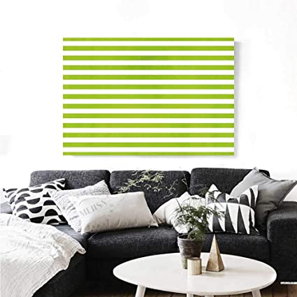 Amazon.com: Warm Family Lime Green Canvas Wall Art for ...