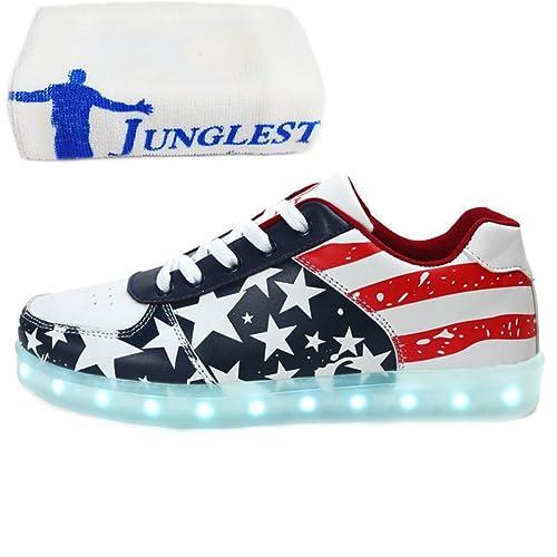 [Presente:pequeña toalla]c15 EU 42, Light 7 Ni?os LED manera de Estrellas Ni?as Zapato