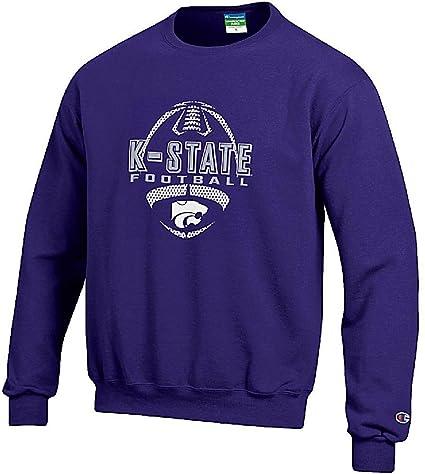 fba1f2b2b12e Kansas State Wildcats Purple Football Powerblend Screened Crew Sweatshirt  by Champion (Medium)