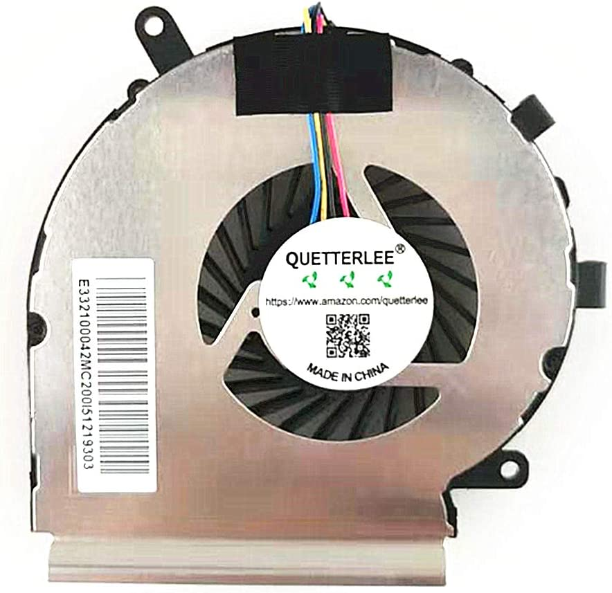 QUETTERLEE New CPU Cooling Fan for MSI 4-Pin GE62VR GV62 8RD GE72VR GP72VR GL72VR GP62MVR GL62M GP62VR GL62VR PE62VR PE62VM GE62VE MS-16J8 16JB 16J1 16J2 16J4 16J5 179B Series PAAD06015SL N402 N366