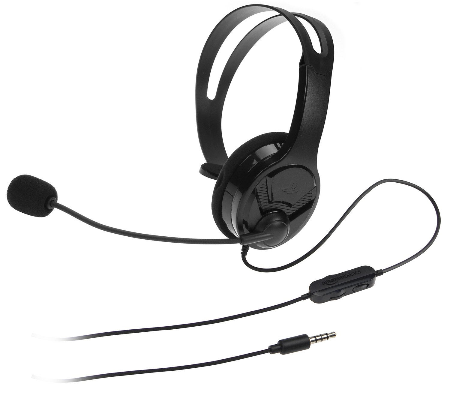 AmazonBasics Gaming Chat Headset for PlayStation 4 with Microphone - 4 Foot Cable, Black by AmazonBasics