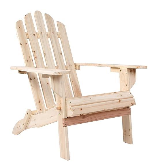 Amazon.com: kuhouse Adirondack de madera al aire última ...