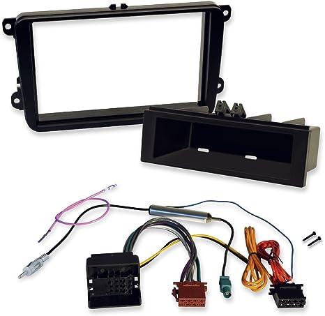 Radio Einbauset Auto 1 DIN Blende Adapter für VW Bora Kabel