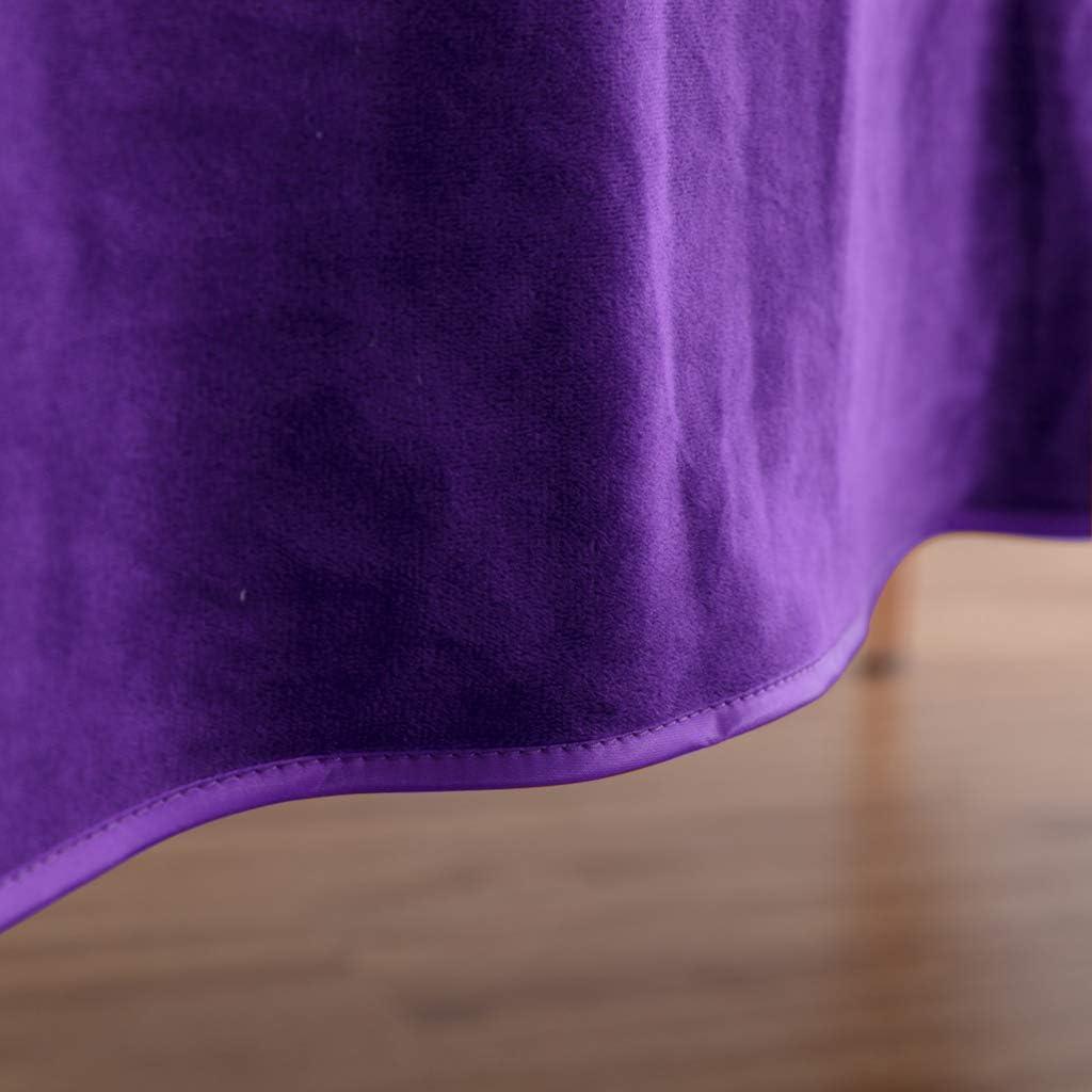 Violet Fenteer Couverture Molle de Divan de Serviette pour Lit De Massage De Spa avec Trou De Visage 2X