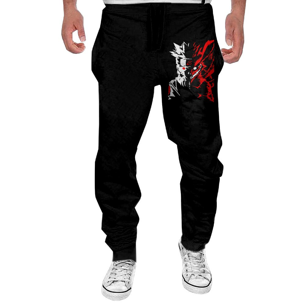 Men's Naruto Kyuubi Nine Tails Face Closed Jogger Pants