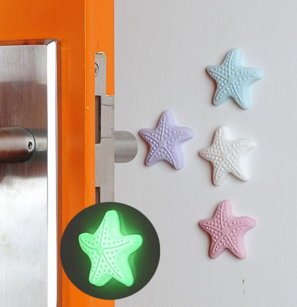 Skyseen 8PCS Starfish Shape Luminous Silicone