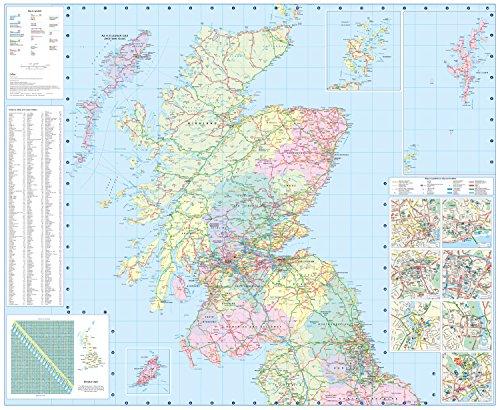 2018 Collins Scotland Road Map - Buy Online In UAE.