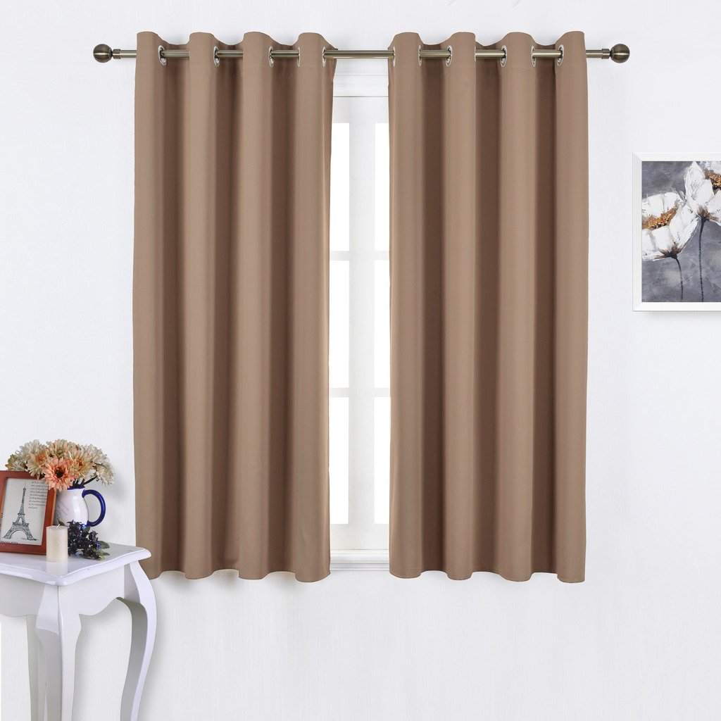 NICETOWN Blackout Draperies Curtains Panels - Window Treatment Thermal Insulated Solid Grommet Blackout Drapes for Bedroom
