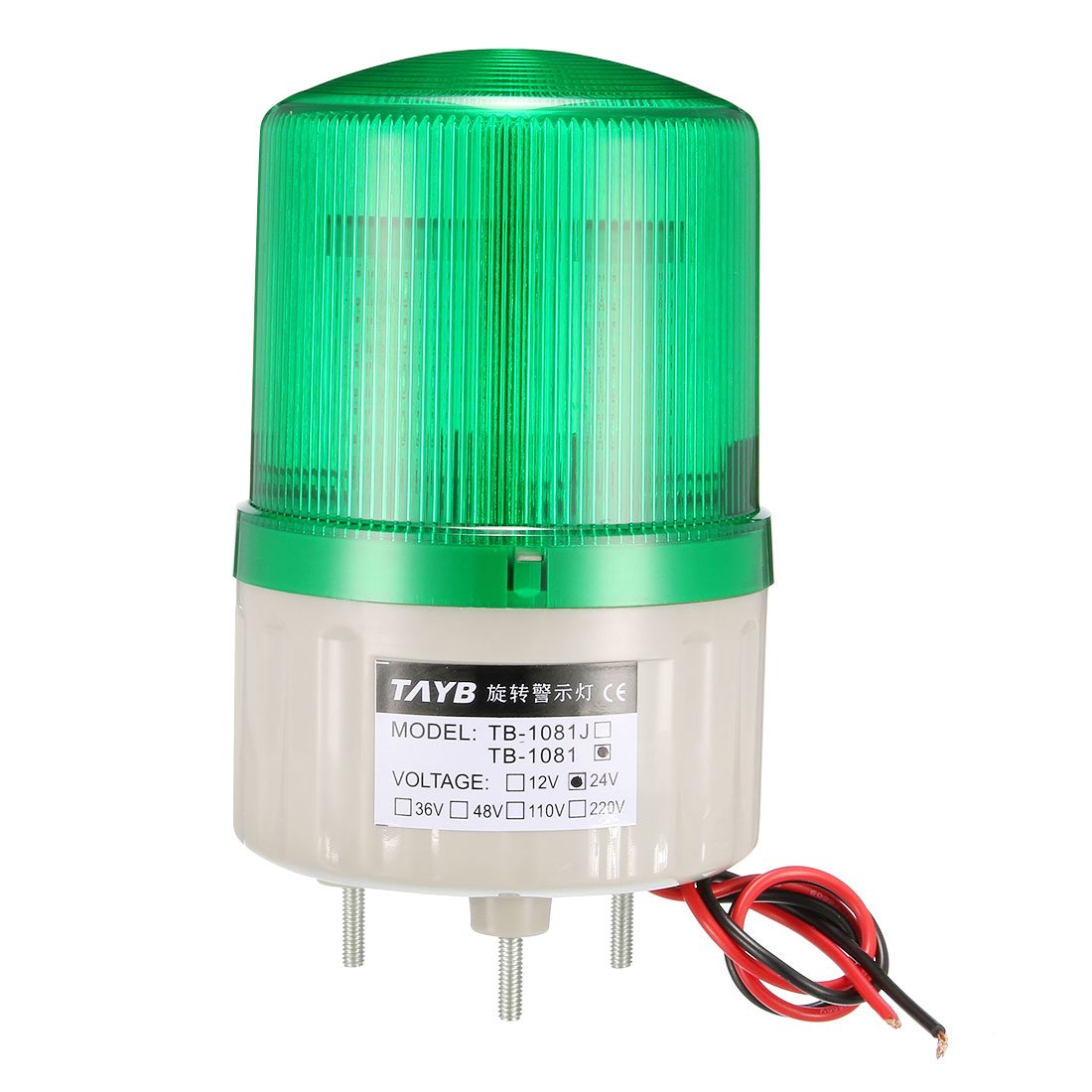 uxcell LED Warning Light Bright Industrial Signal Alarm Lamp Indicator Light DC 24V 1W Green TB-1081