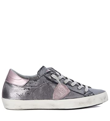 Sneakers for Women On Sale, Silver, Leather, 2017, 5.5 Philippe Model